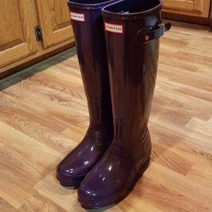 Deep purple hunter boots